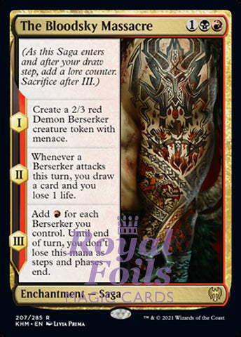 **2x FOIL The Bloodsky Massacre** KHM MTG Kaldheim Rare MINT black red