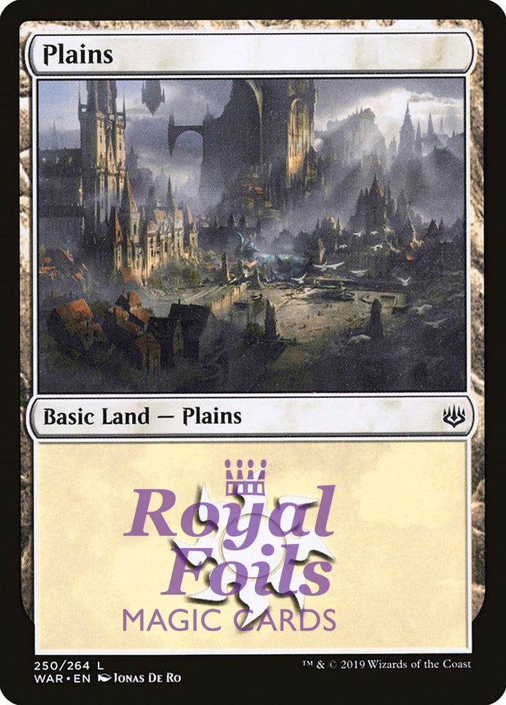 **3x FOIL Plains #250** WAR MTG War of the Spark Basic Land MINT white