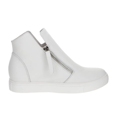 LESANSA white Smooth Black Women's Sneakers Casual boots