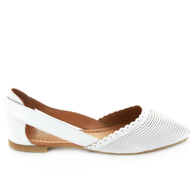 Letti | White | LE SANSA | LE FLATS Womens Shoes Online