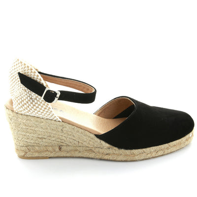 Poppy | Black Suede | LE SANSA | LE WEDGE Womens Shoes Online