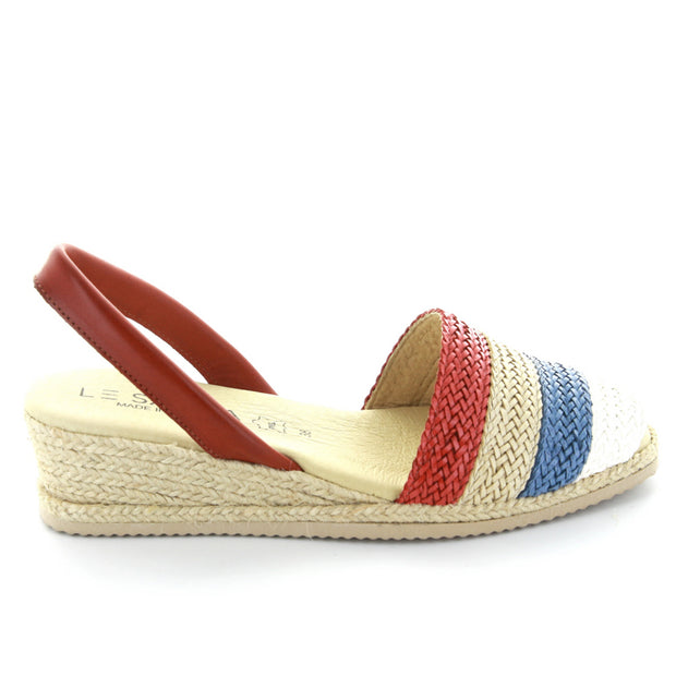 Priya | Red Multi | LE SANSA | LE WEDGE Womens Shoes Online