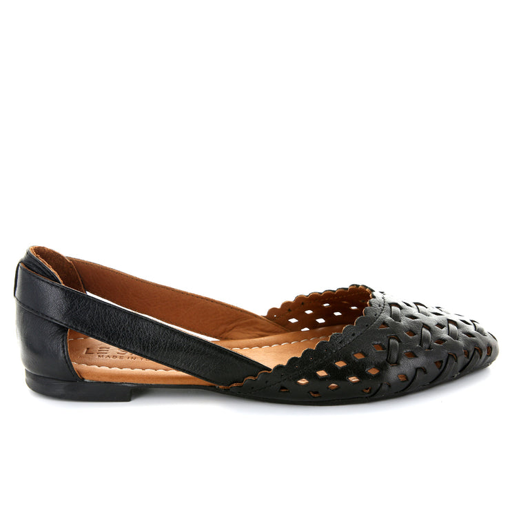 Lotus | Black | LE SANSA | LE FLATS Womens Shoes Online