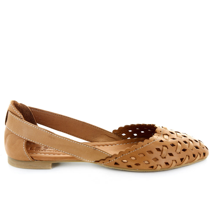 Lotus | Tan | LE SANSA | LE FLATS Womens Shoes Online