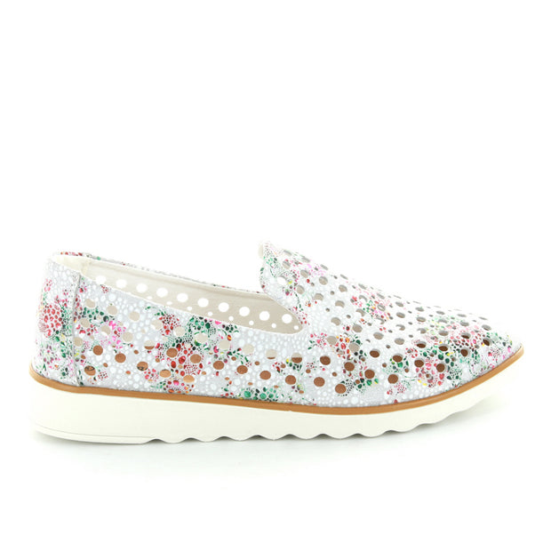 Austin | White Green Floral Print | CC Resorts | cc casuals Womens Shoes Online