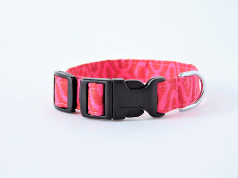 Pink and Red Ikat Collar - Charlotte's Pet