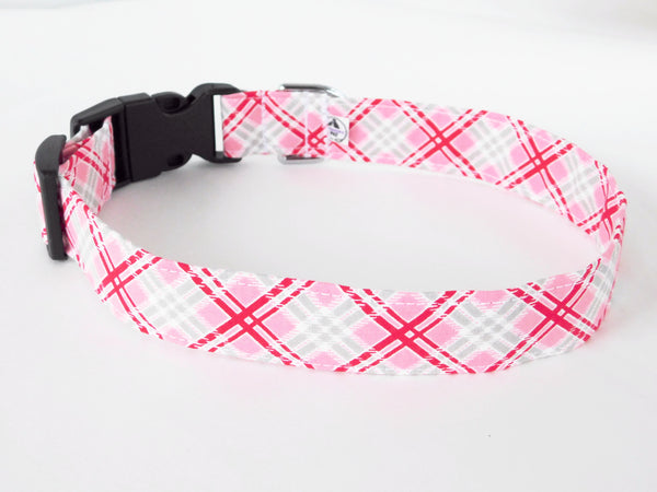 Red and Pink Plaid Collar - Charlotte's Pet