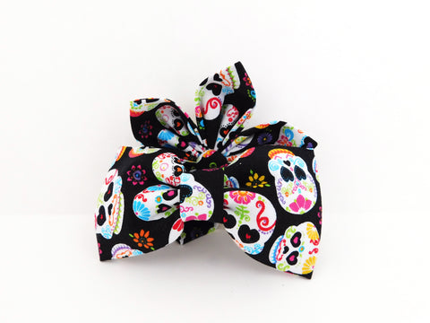 Sugar Skulls Bow Tie/Flower - Charlotte's Pet