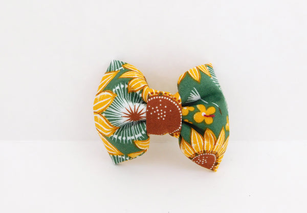 Green Sunflower Collar Flower/Bow Tie - Charlotte's Pet