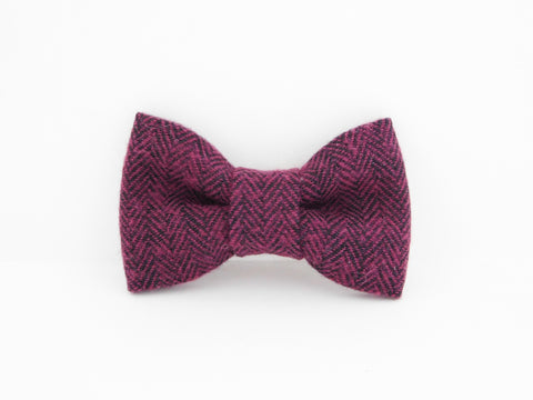 Burgundy Woven Collar Bow - Charlotte's Pet