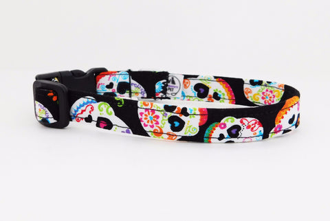 Sugar Skulls Collar - Charlotte's Pet