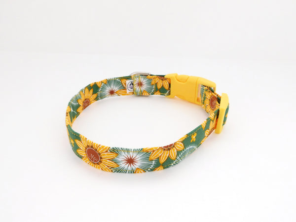 Green Sunflower Collar - Charlotte's Pet