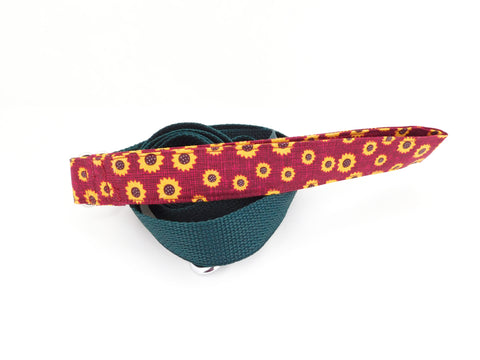Burgundy Sunflower Leash - Charlotte's Pet