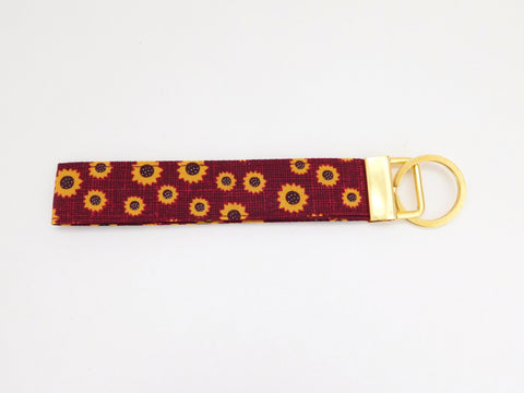 Burgundy Sunflower Key Fob - Charlotte's Pet