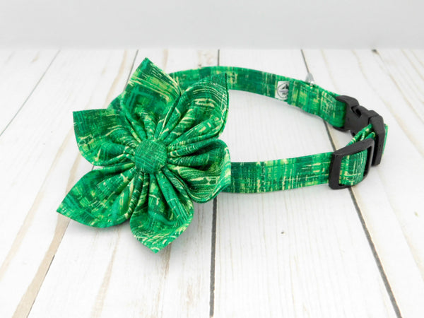 Green Grass Dog Bow Tie/ Collar Flower - Charlotte's Pet