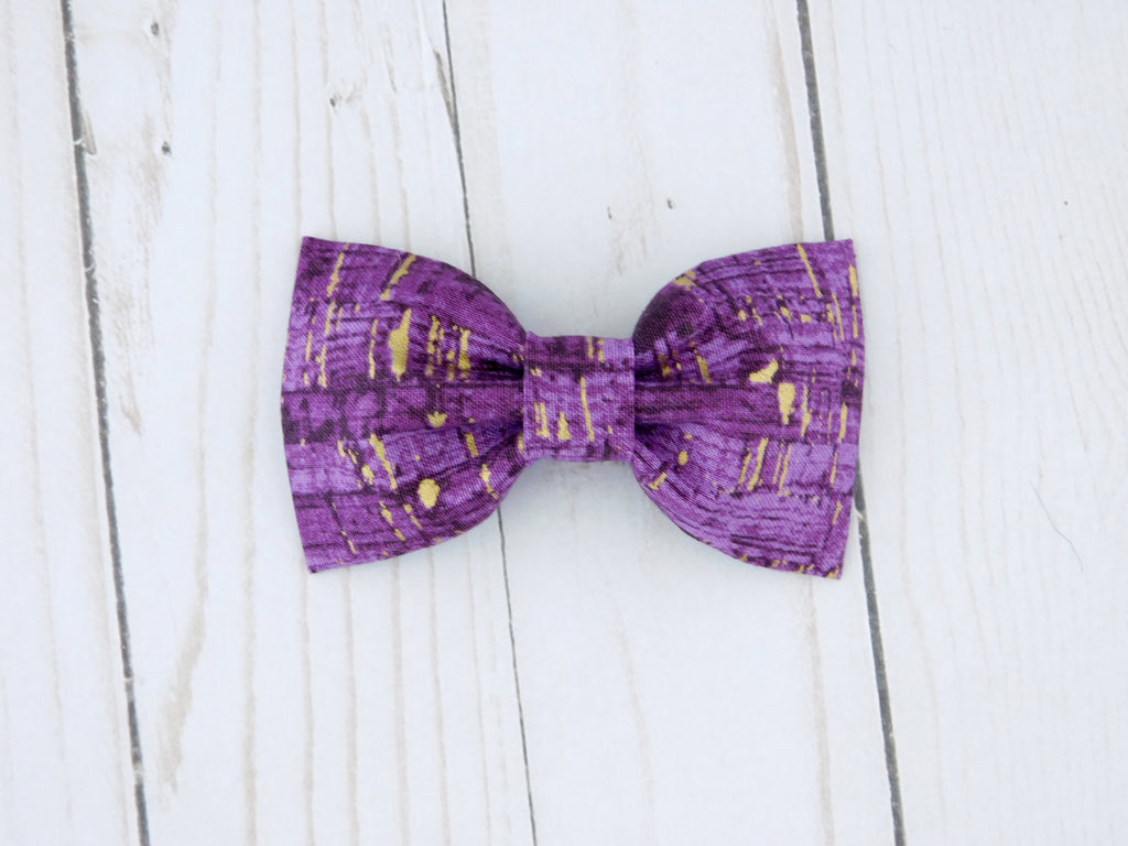Purple Cork Dog Bow Tie/Flower - Charlotte's Pet