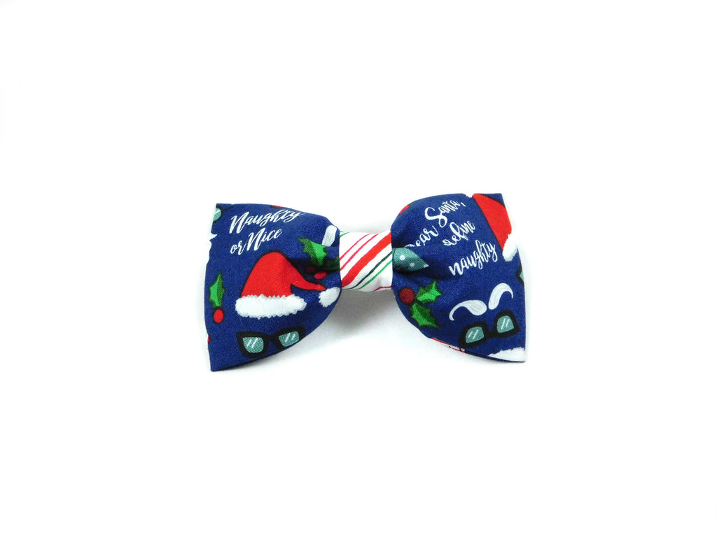 Naughty or Nice Bow Tie/ Collar Flower - Charlotte's Pet