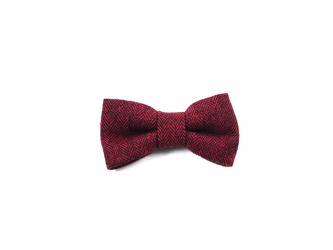 Red Woven Bow Tie/ Collar Flower - Charlotte's Pet