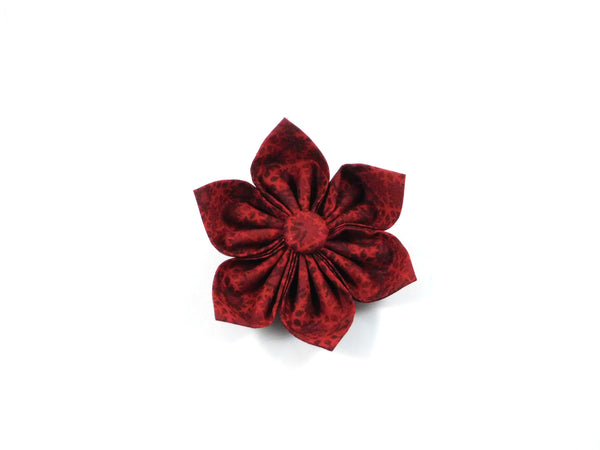 Red Snowflakes Bow Tie/ Collar Flower - Charlotte's Pet