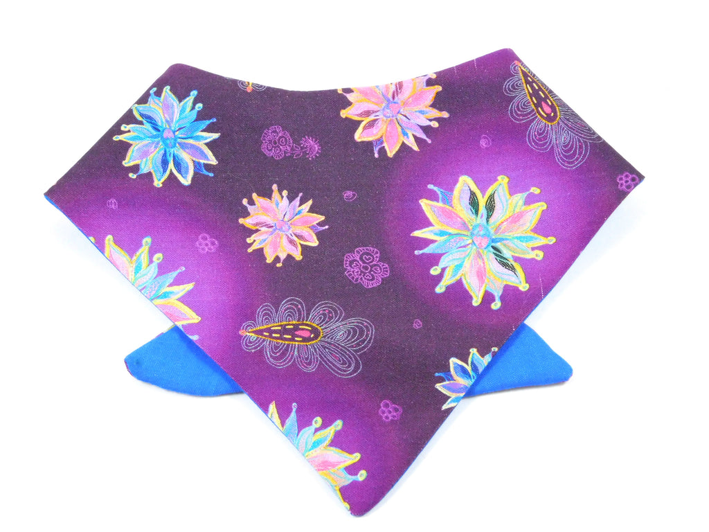 Purple Winter Flowers Bandana - Charlotte's Pet