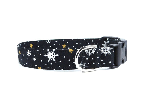 Black Snow Dog Collar/ Cat Collar - Charlotte's Pet