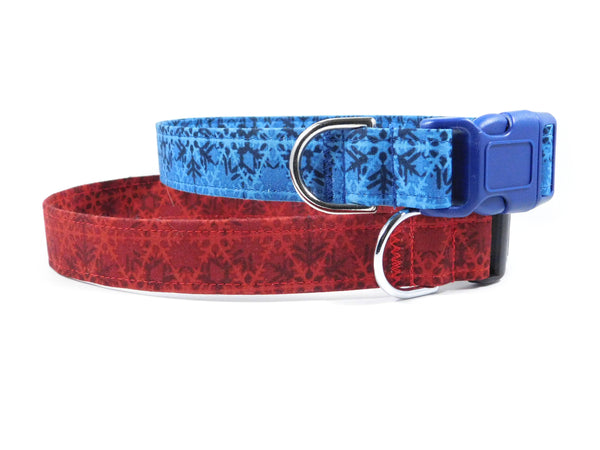 Red Snowflakes Dog Collar/ Cat Collar - Charlotte's Pet