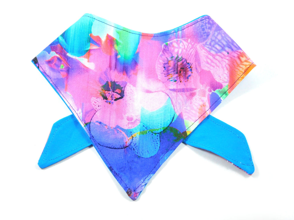 Neon Flowers Dog Bandana - Charlotte's Pet