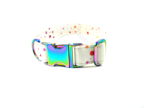 Birds of Summer in White Dog Collar/ Cat Collar - Charlotte's Pet