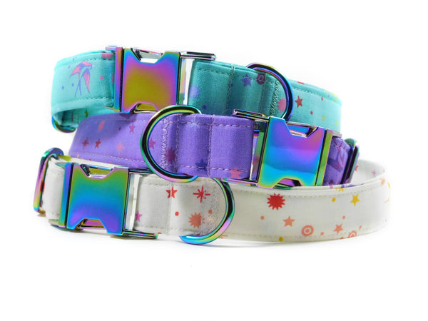 Birds of Summer in Teal Dog Collar/ Cat Collar - Charlotte's Pet