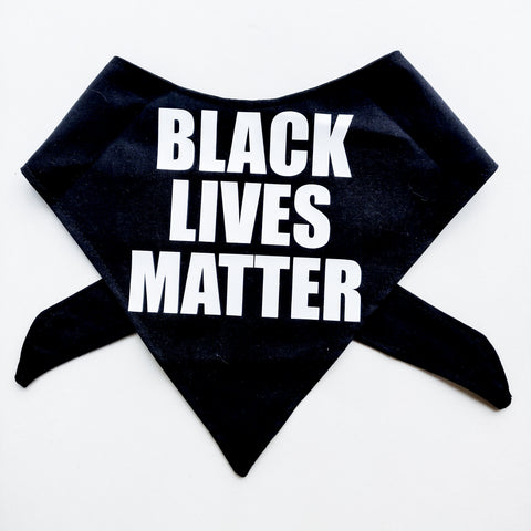 Black Lives Matter Dog Bandana