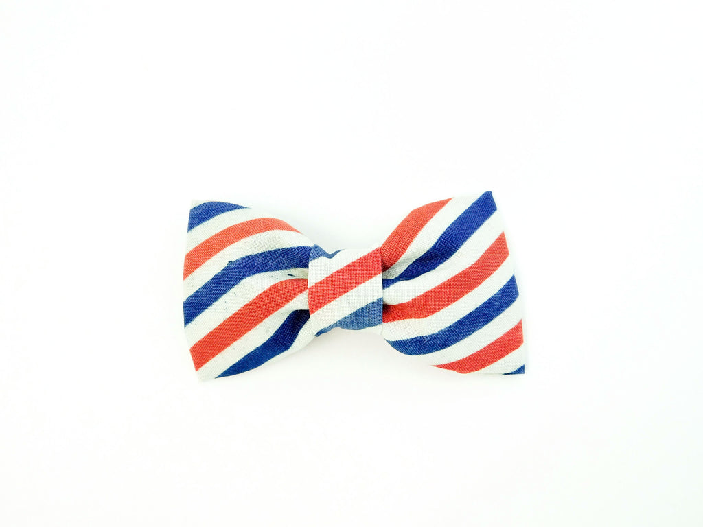 Vintage Stripes Bow Tie/Flower - Charlotte's Pet