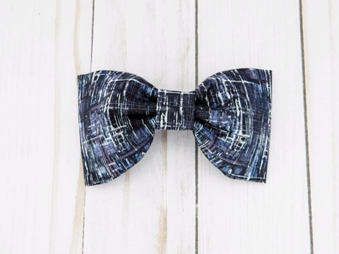 Black Ice Dog Bow Tie/ Collar Flower - Charlotte's Pet