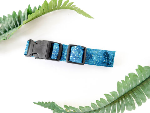 Blue and Gold Sparkle Collar - Charlotte's Pet