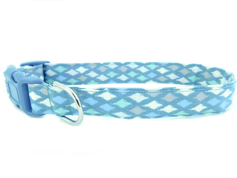 Blue Diamond Print Collar - Charlotte's Pet