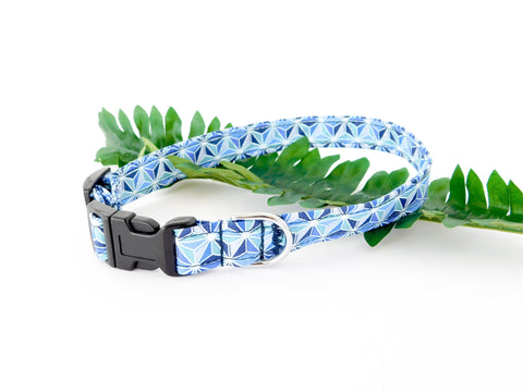 Blue Geotriangle Collar - Charlotte's Pet