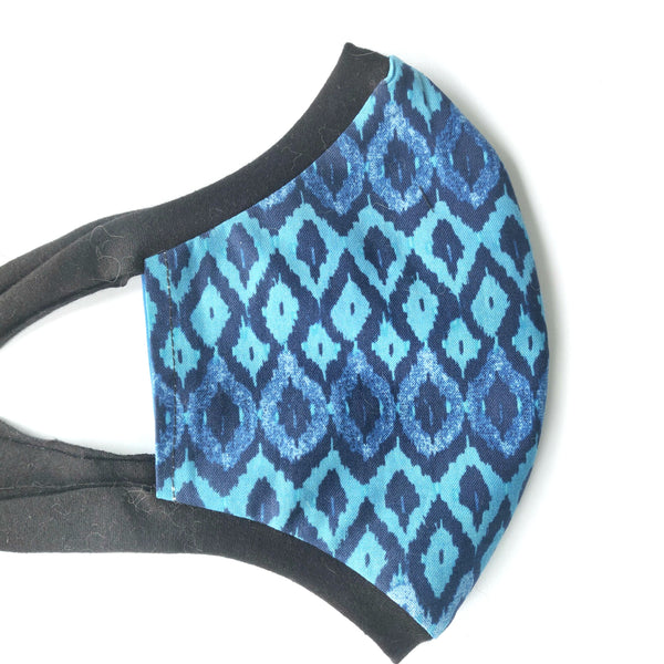 Blue Fabric Face Mask, nonmedical