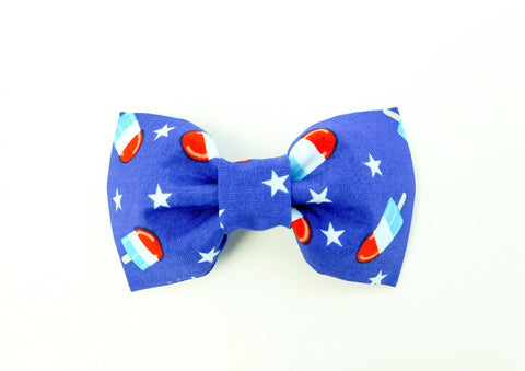 Blue Bomb Pop Bow Tie/Flower - Charlotte's Pet
