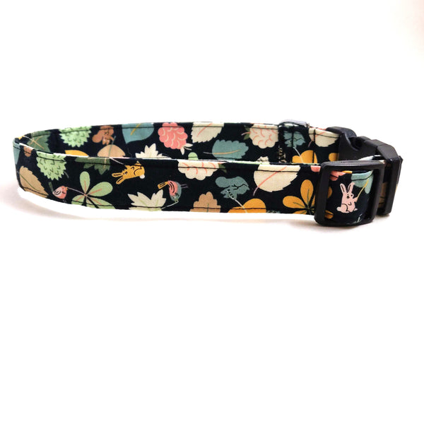Fall Critters and Leaves Dog Collar/ Cat Collar