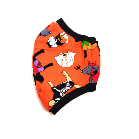 Dogs in Costumes Fabric Face Mask, nonmedical