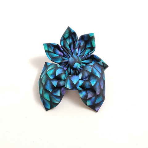Dragon Scales Collar Flower/Bow Tie