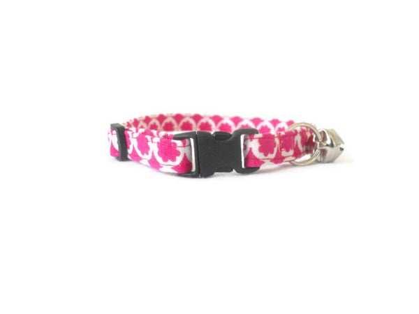 Pink and White Collar - Charlotte's Pet
