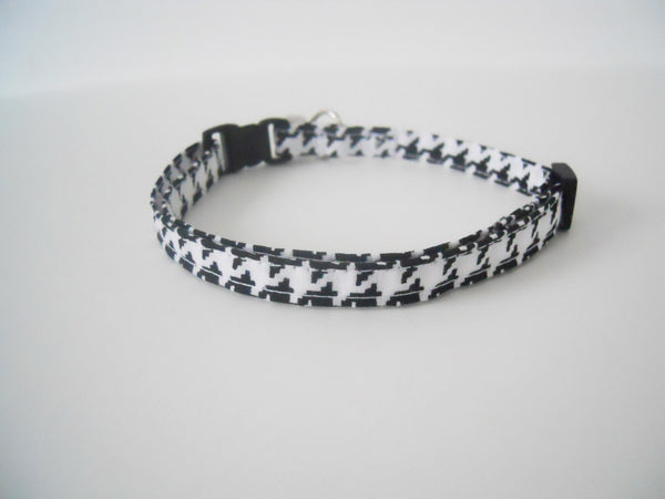 Black and White Houndstooth Collar - Charlotte's Pet