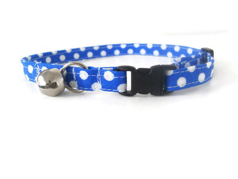 Blue Polka Dot Collar - Charlotte's Pet