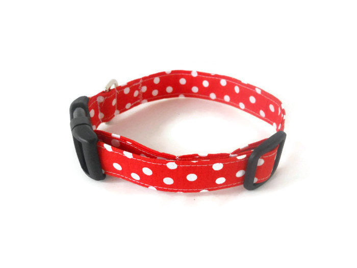 Burnt Orange Polka Dot Collar - Charlotte's Pet