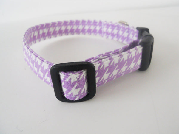 Purple Houndstooth Collar - Charlotte's Pet