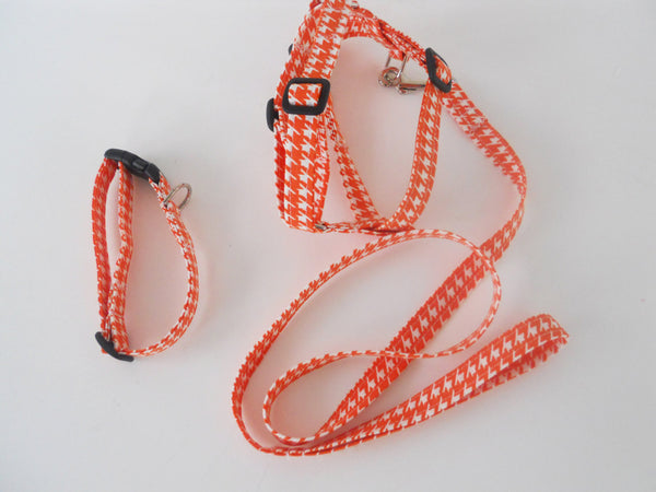 Matching Collar, Leash, and Harness Set - Charlotte's Pet
