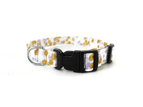 Purple and Gold Polka Dot Collar - Charlotte's Pet