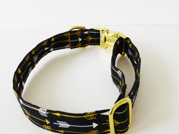 Black and Gold Arrow Collar - Charlotte's Pet