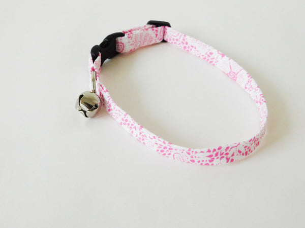 Pink Faux Lace Collar - Charlotte's Pet