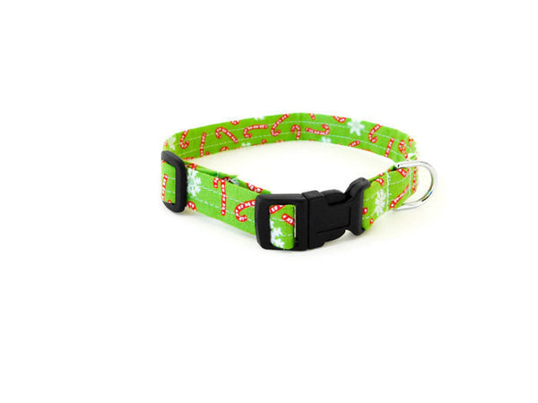 Green Candy Cane Collar - Charlotte's Pet